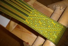 Tablet Weaving - Bands on the frame