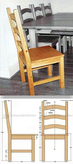 Pine Dining Chair Plans - Furniture Plans and Projects | WoodArchivist.com