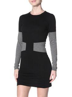 Kier & J Women's Sweater Dress (Black/Grey)