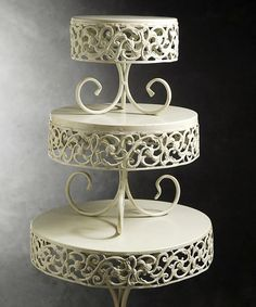 Ornate Cake Stand Set #zulily #zulilyfinds... This would be perfect for lotions and perfumes in the bathroom or bedroom! Cake Holder, Cake Stands, Farmhouse Decor, Cake Platter, Cottages, Wood Cake Stands, Country Farmhouse Decor, Country Home Decorating