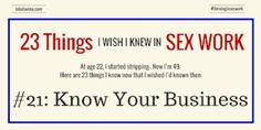 23 Things I Wish I'd Known: #21: Know Your Business