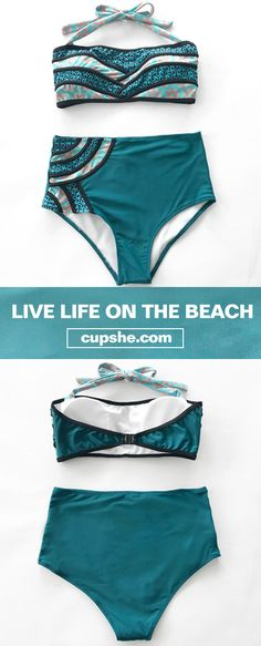 Treat Yourself to Something Special. Unique splicing style with comfortable back hook closure support. Come to hug wonderful beach holiday and sunshine. Check it out.