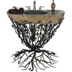 "Quiescence Aspen 36"" Single Forest Bathroom Vanity Set Base Finish: Ambered Bronze"