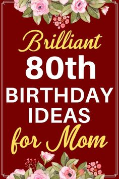 Birthday Gift Ideas for Mom - Top 25 Birthday Gifts 2020 80th Birthday Decorations, 19th Birthday Gifts, Bff Birthday Gift, Birthday Gifts For Women, Birthday Ideas, Gifts For Older Women, Gifts For Mom, Gift Ideas, Awesome