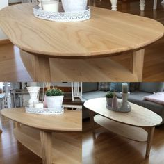 Ellipse table made with American Ash.   Made by; Trond Olsen