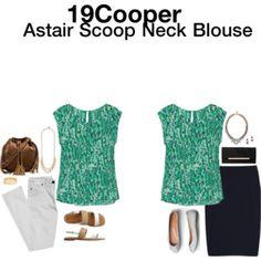 19 Cooper Astair Scoop Neck Blouse via Stitch Fix