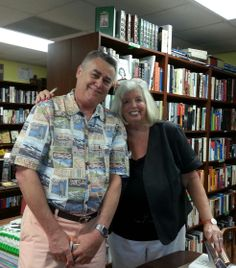 "AUTHOR DIANE GILBERT MADSEN WITH CARL PATRICK - A REAL LAWYER WHO IS A CHARACTER IN THE DD McGIL MYSTERY, ""THE CONAN DOYLE NOTES: THE SECRET OF JACK THE RIPER.  Taken 5-22-14 @ Copperfish Books in FL"