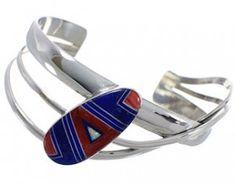 Southwest Multicolor Jewelry Sterling Silver Cuff Bracelet PX28421