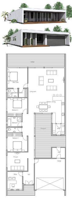 Minimalist House Design, Floor Plan from ConceptHome.com