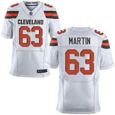 6a28b4f8bbb Men s Nike Cleveland Browns  63 Marcus Martin Elite White NFL Jersey nfl  jersey ads Nfl
