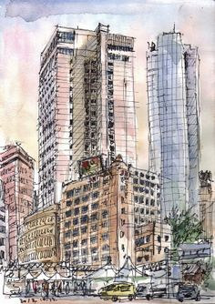 Urban Sketchers: sketches around Seoul City Hall and Jeong-dong