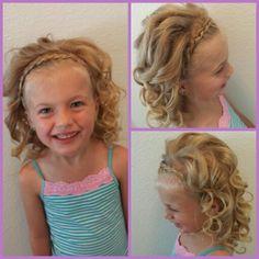 Toddler hairstyle, French braid, dutch braid, headband.