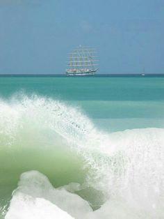 Large sail boat