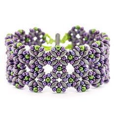 Just written directions, no pictures or diagrams. Pastel Lattice Bracelet | Fusion Beads Inspiration Gallery