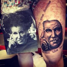 Bette Midler tattoo!  It'd be nice to see it when finished