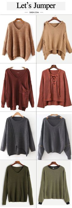 Cute drop shoulder sweater collection for fall/winter.