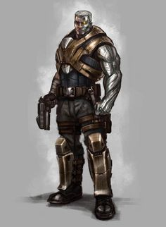 Concept art del videojuego (2013), Cable, por -Billy King