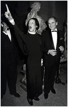 Diana Vreeland and Pierre Cardin by Ron Galella, 1982