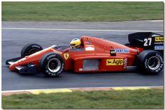 Michele Alboreto Ferrari F1/86 F1 1986 British GP Brands Hatch