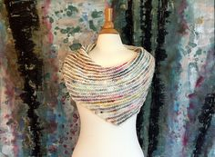 """This simple boomerang shawl is my answer to the common question """"What can I make with hand-spun yarn?"""""""