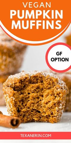 Vegan Pumpkin Muffins (gluten-free, whole grain options) – Texanerin Baking You are in the right place about Gluten Free appetizers Vegan Muffins, Gluten Free Muffins, Healthy Muffins, Gluten Free Baking, Healthy Baking, Healthy Recipes, Vegan Pumpkin, Pumpkin Recipes, No Cook Desserts
