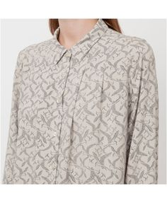 Ivana Helskinki 3/4 sleeve blouse, bird print, large $30
