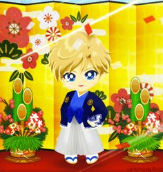 sailor moon drops haruka tenou kimono Sailor Neptune, Sailor Uranus, Sailor Mars, Sailor Moon Drops, Moon Art, Sailors, Chibi, Geek Stuff, Kawaii