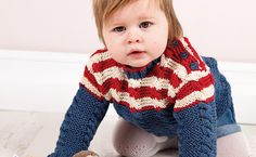 Ravelry: Billy Baby Gansey pattern by Jacinta Bowie