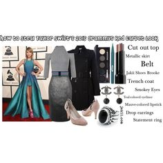 How to Steal Taylor Swift's 2015 Grammys Red Carpet Style by jakiishoes on Polyvore featuring Miss Selfridge, Burberry, Oasis, Chanel, Missoni, Laura Mercier, Bobbi Brown Cosmetics, Stila and JakiiShoes