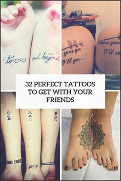 32 Perfect Best Friend Tattoos To Get - Styleoholic #best #friend #tattoo #tattooideas