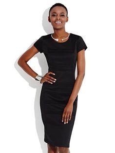 Pintuck Sheath Dress - New York & Company