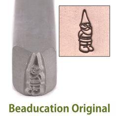 Gnome Metal Design Stamp- Beaducation Original Beaducation