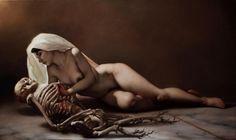 """iopanosiris:  """"PIETAS"""" olio su tela by Roberto Ferri - http://wp.me/p6qjkV-3ak  #Art"""