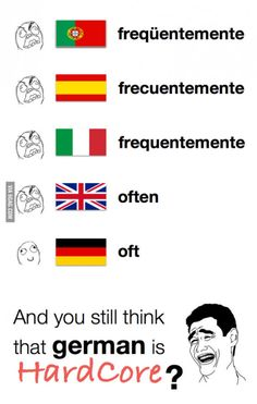 Lesson German words can also be short. - Lesson German words can also be short. Best Picture For Funny captions For Your Taste You are - Memes Humor, Jokes, The Words, Meme Comics, Funny Images, Funny Pictures, Learning French For Kids, German Language Learning, Mundo Comic