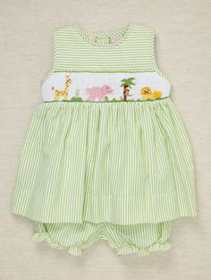 Carriage Boutique Girls Zoo Dress & Bloomers $25