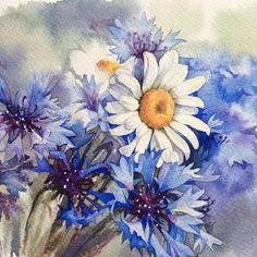 Полевые цветы. Для #spring_and_watercolor от @juliabarminova