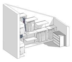 Il progetto di Pamela: una cabina armadio in mansarda - BLOG ARREDAMENTO