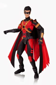 Based on his design from the monthly Teen Titans comic book! This Teen Titans DC Comics New 52 Red Robin Action Figure joins the DC Collectibles lineup. Batman Comic Books, Batman Comics, Comic Book Characters, Comic Book Heroes, Batman Vs, Superman, New 52, Dc Comics Action Figures, Teen Titans