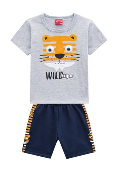 Funky Baby Clothes, Summer Set, Tiger, Boys T Shirts, Trunks, Swimwear, Kids, Products, Fashion