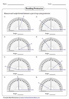 Teach students to measure angles with these protractor