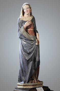 Tino di Camaino - Vergine Annunciata - prima 1315 - legno  policromo - Museo Stefano Bardini - Firenze