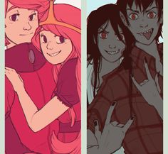 gumball and marceline | Fionna Jake Cake Princess Bubblegum Prince Gumball Marceline And