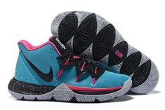 Kyrie 5 South Beach Shoes - Popular Nike Kyrie 5 South Beach Blue Gale Pink Black Shoes On Sale Now,Wholesale Price. Creeper Sneakers, Buy Sneakers, Sneakers For Sale, Kyrie 5, Nike Kyrie, Nike Lebron, Zapatillas Nike Basketball, Girls Basketball Shoes, Basketball Accessories