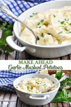 This Make Ahead Garlic Mashed Potatoes recipe is truly the best mashed potatoes recipe that you will EVER taste! Made with sour cream, cream cheese, and plenty of zesty garlic flavor, the fluffy, crea Mashed Potatoes From Scratch, Cream Cheese Mashed Potatoes, Make Ahead Mashed Potatoes, Homemade Mashed Potatoes, Mashed Potato Recipes, Cheesy Potatoes, Roasted Garlic Mashed Potatoes, Roasted Potatoes, Food Dishes