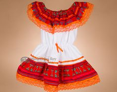 Traditional Mexican Fiesta Dress -Size 1