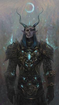 fantasy dark meninfantasyart Night Elf by Yuuza Elves Fantasy, Fantasy Warrior, Fantasy Rpg, Dark Fantasy Art, Fantasy Artwork, Demon Artwork, Warrior Angel, Fantasy Character Design, Character Design Inspiration
