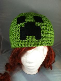 Minecraft creeper hat by *NerdStitch on deviantART
