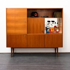1960s walnut highboard - Karlsruhe