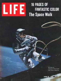 Life Magazine Copyright 1965 Astronaut White Spacewalk - www.MadMenArt.com…