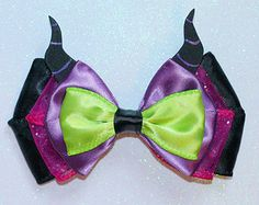 Leather Maleficent Inspired Bow by KerleyGirls on Etsy